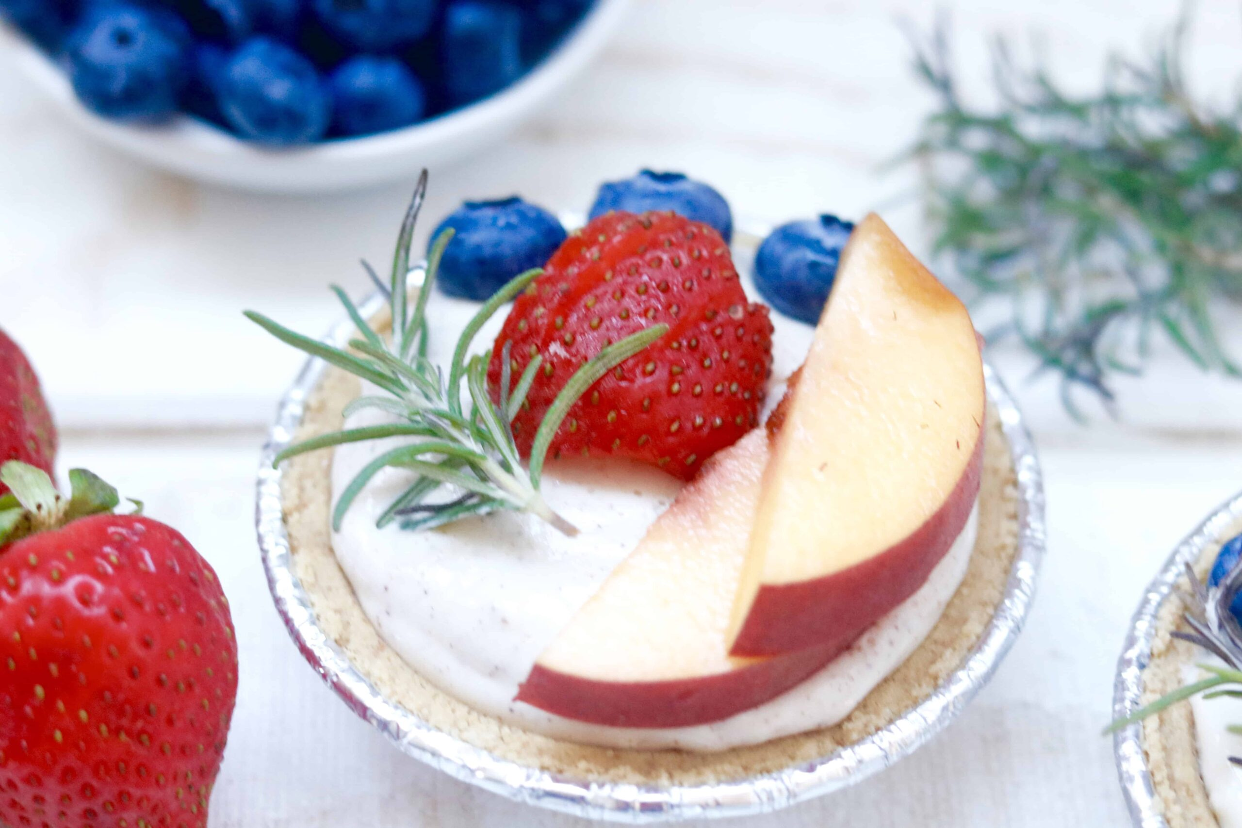 No Bake Cheesecake with Fresh Berries - Ready in 10 Minutes Flat! @shawsimpleswaps