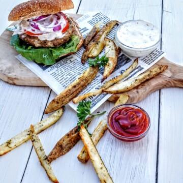 Mushroom Turkey Burger + The Cookbook You Need This Year @shawsimpleswaps