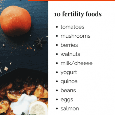 10 Fertility Foods – Help Fuel Your Fertility Downloadable