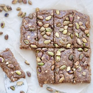 Mediterranean Pistachio No Bake Snack Bars – Vegan & Gluten Free