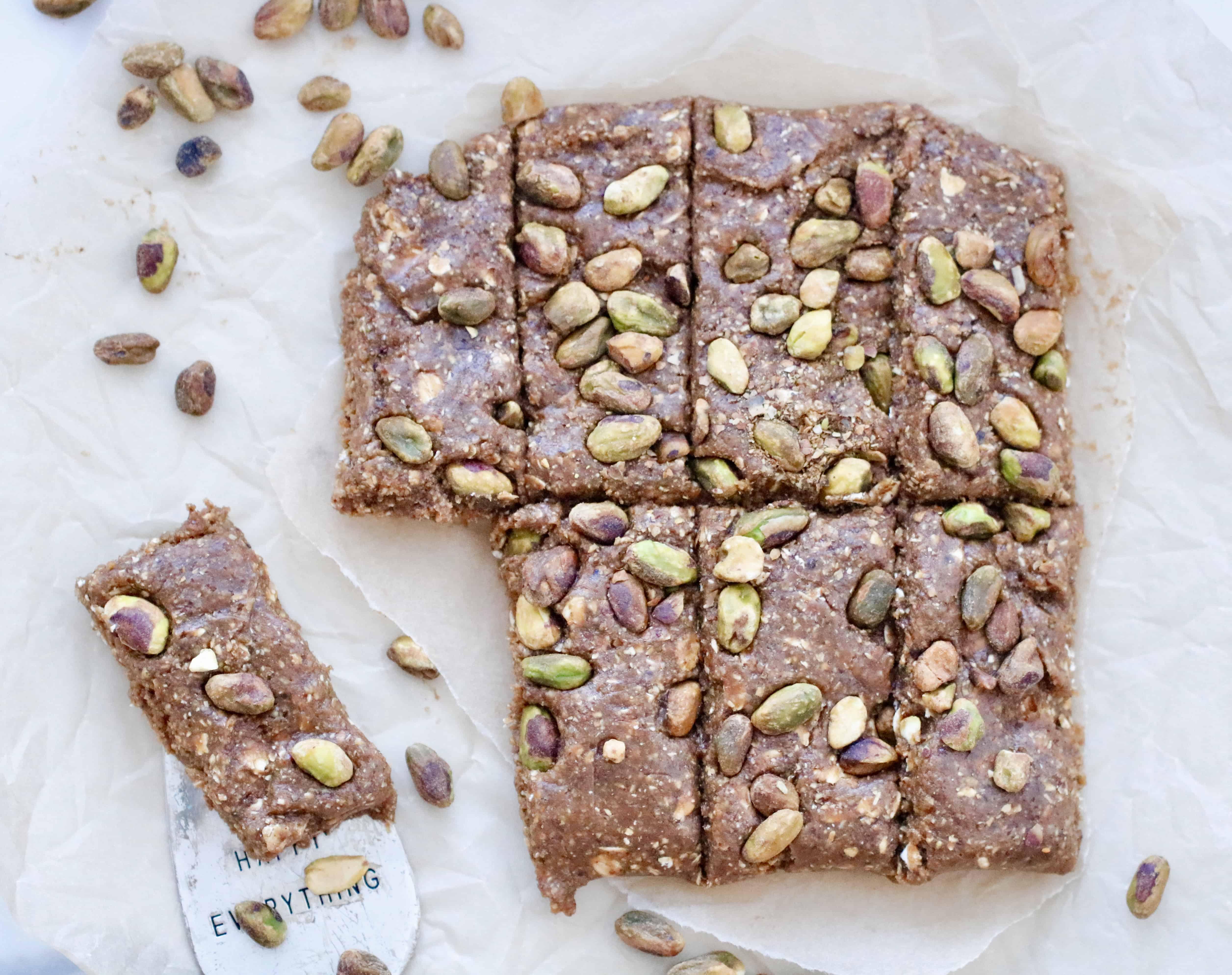Mediterranean Pistachio No Bake Snack Bars - Vegan & Gluten Free @shawsimpleswaps