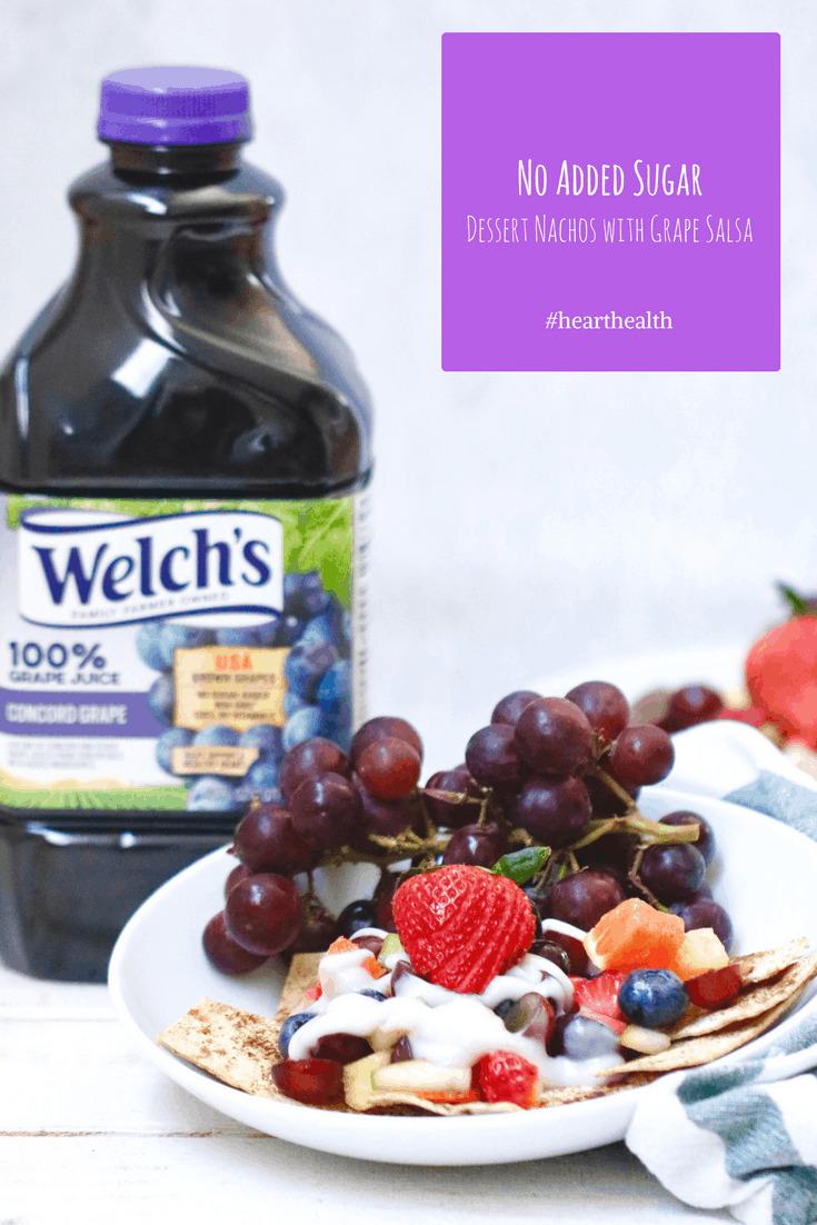 No Added Sugar Dessert Nachos with Welch's Grape Juice Salsa @shawsimpleswaps