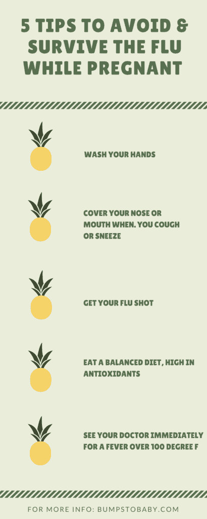 5 Tips to Avoid & Survive the Flu While Pregnant @bumpstobaby