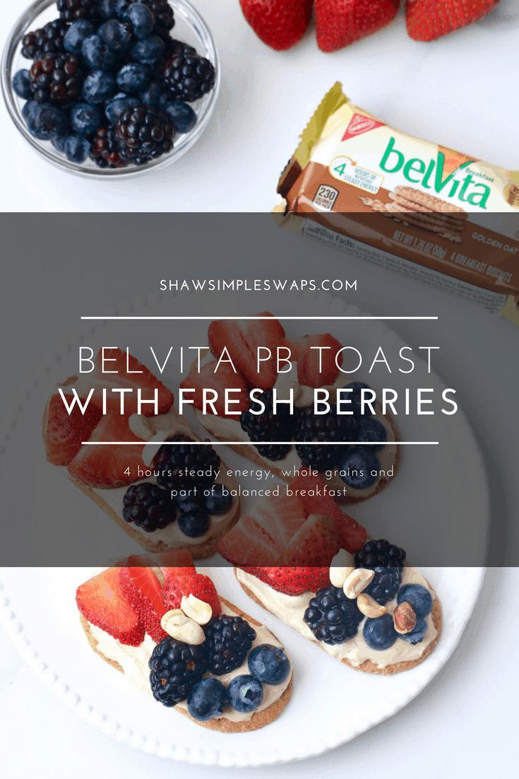 belVita PB Toast with Fresh Berries @shawsimpleswaps