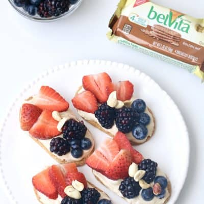 belVita PB Toast with Fresh Berries