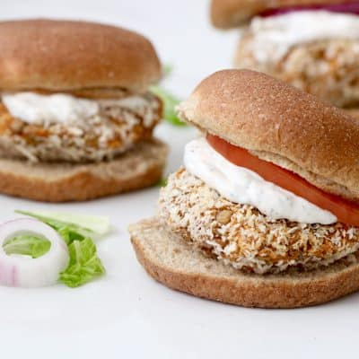 BBQ Lentil Burgers with Ranch Dressing – Gluten Free Option