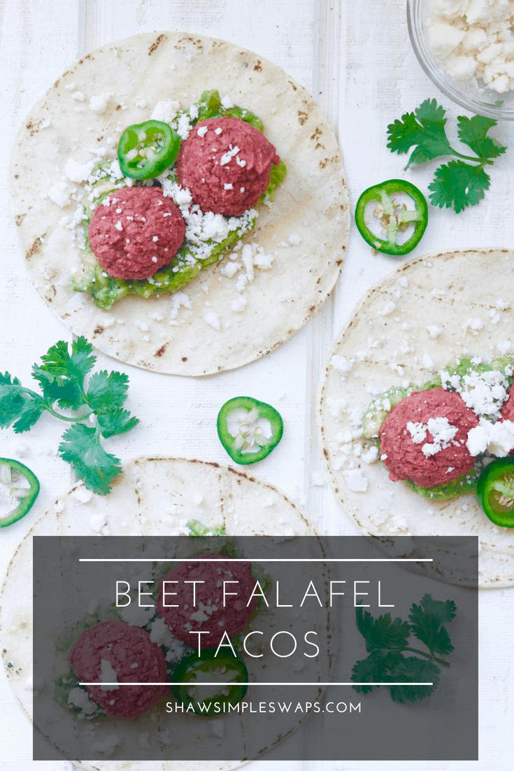Turn Up Da Beet Falafel Tacos @shawsimpleswaps