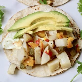 Roasted Potato Tacos with Eggs – Post Workout Recovery Fuel