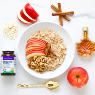 Apple Pie Oatmeal + The Benefits of Probiotics in Total Health