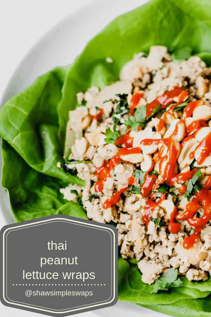 Thai Peanut Lettuce Wraps + 30 Minute Thyroid Cookbook Review @shawsimpleswaps #thyroidhealth #cookingforhealth #Paleo