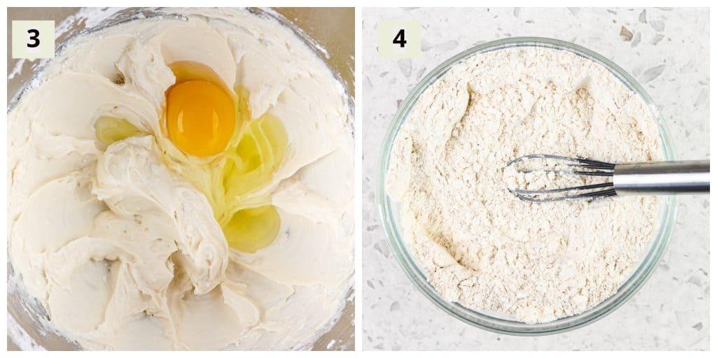 Sugar cookie process shot.