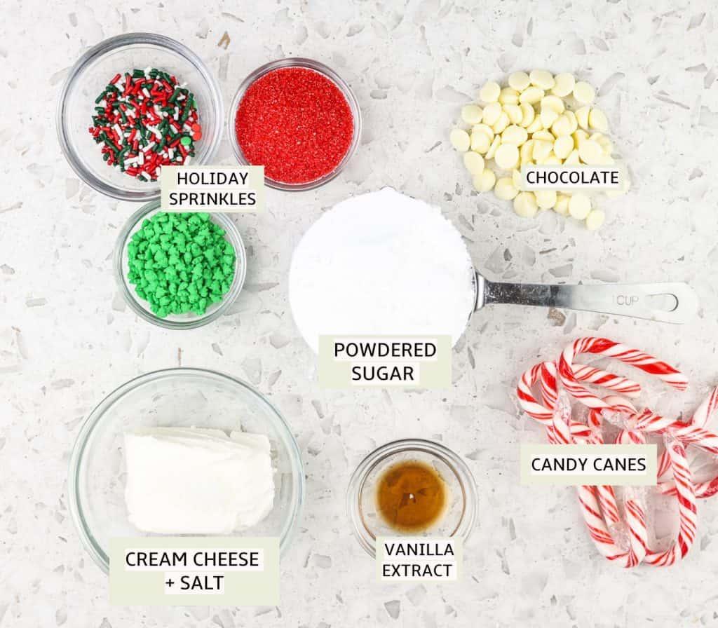 Ingredients to make frosting.