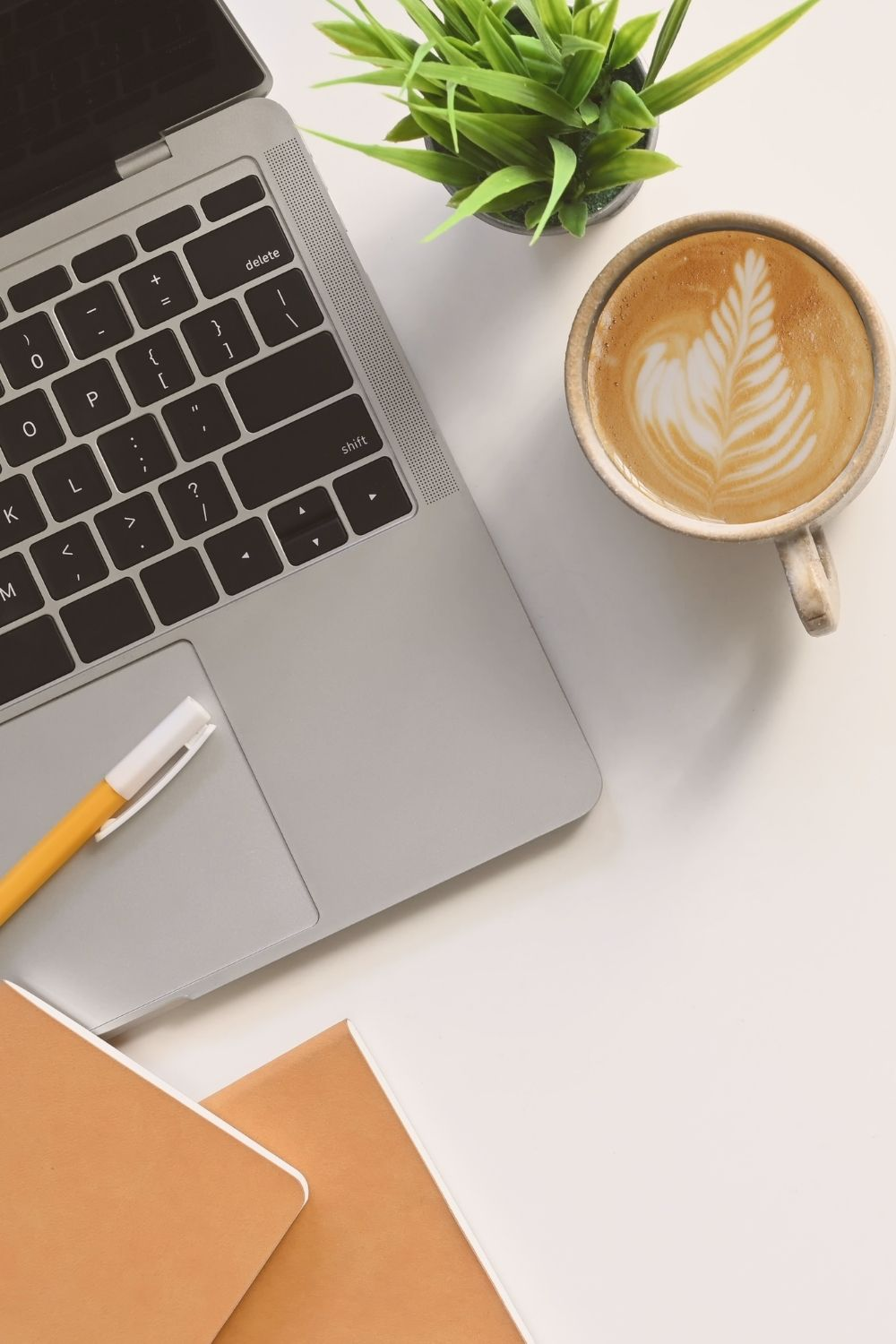 Business Tips Article with computer and coffee mug.