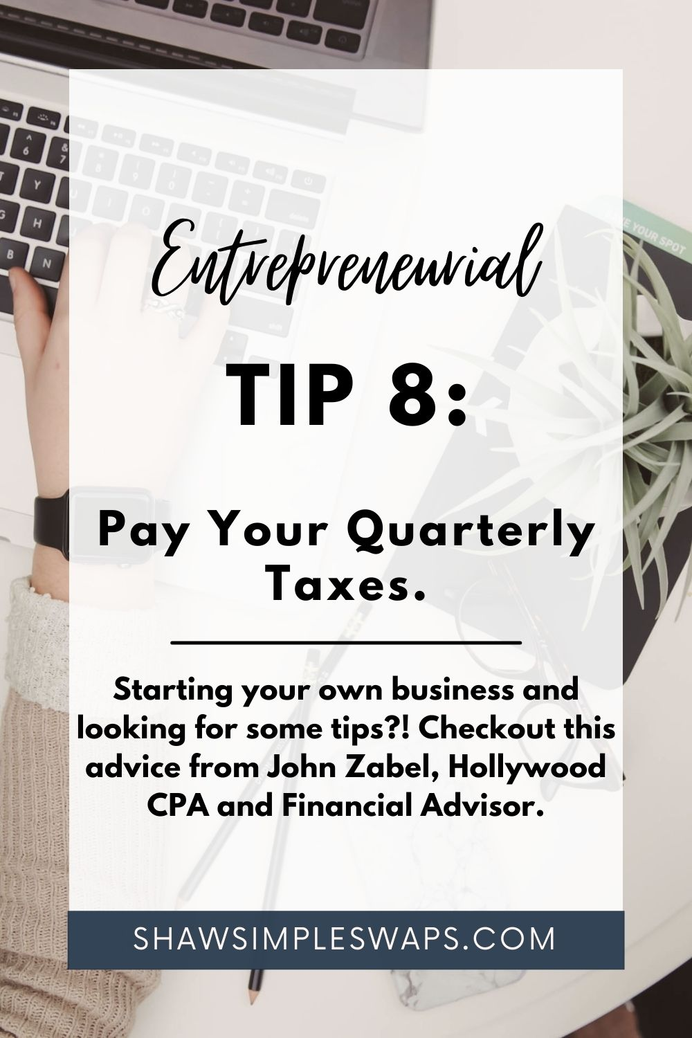 Image with writing for business tips post.