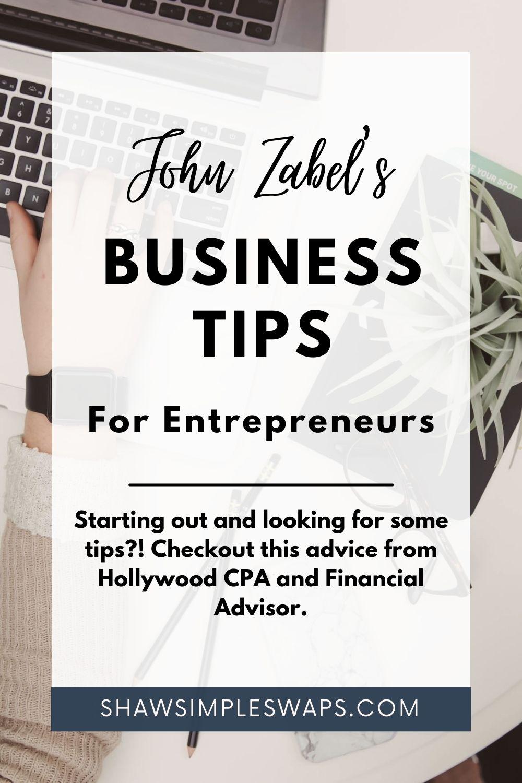 Pinterest image for John Zabel Business Tips