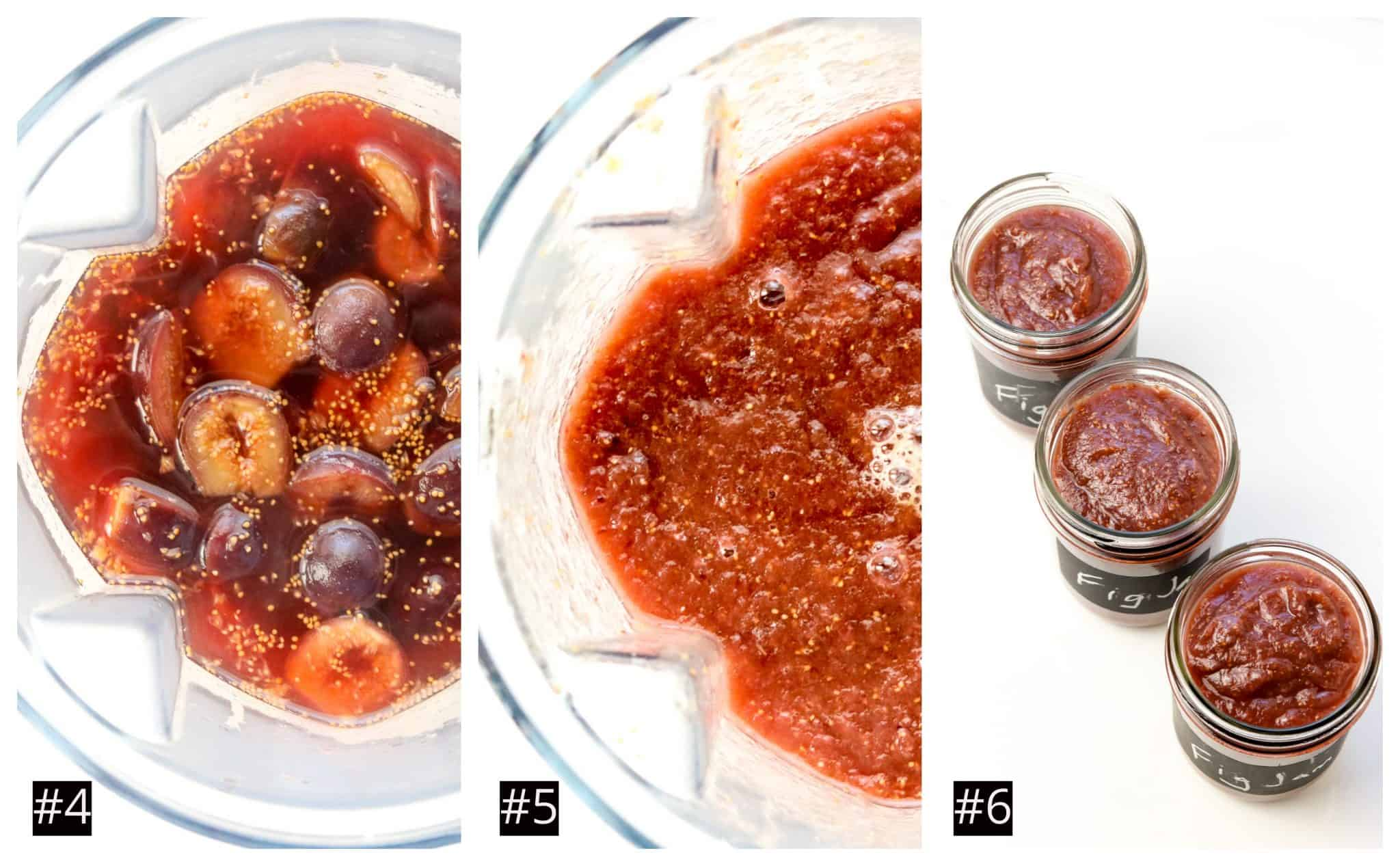 Image of process of making fig jam.