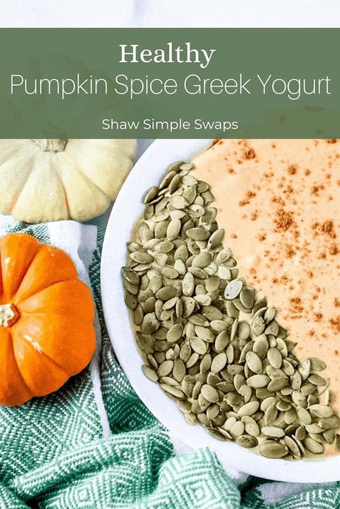 Healthy Pumpkin Spice Greek Yogurt
