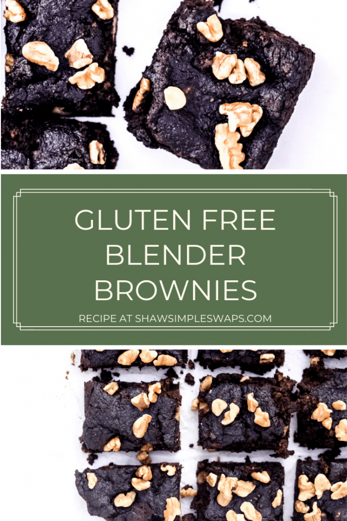 Gluten Free Brownie Recipe - A delicious, blender brownie recipe that's naturally gluten free, dairy free, artificial sugar free and actually delicious. No sponge like tasting brownies here! This pecan flour base will have your entire crowd asking for more! #glutenfreebrownies #brownierecipe #blenderbrownies #healthydesserts #dairyfreebrownies