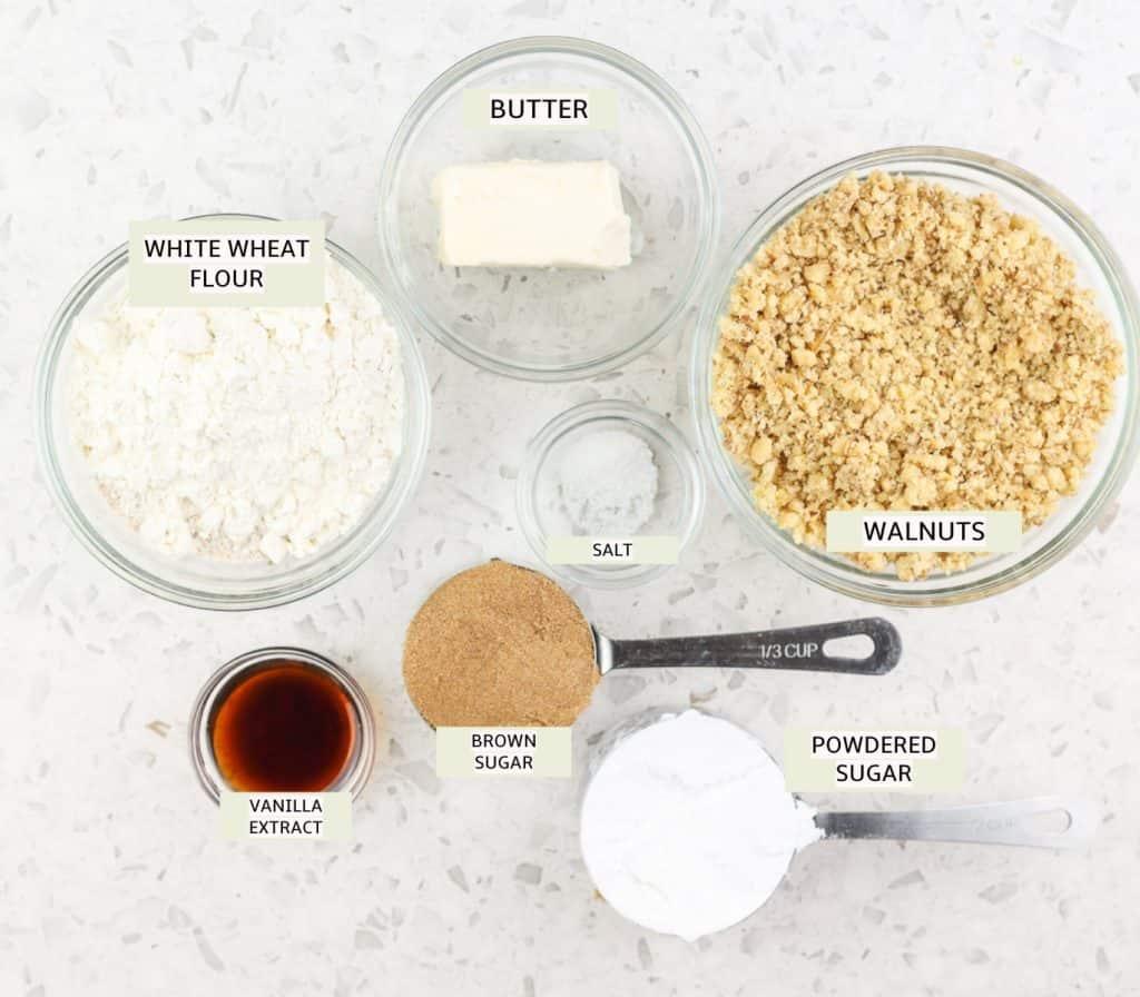 Ingredients to make cookies.