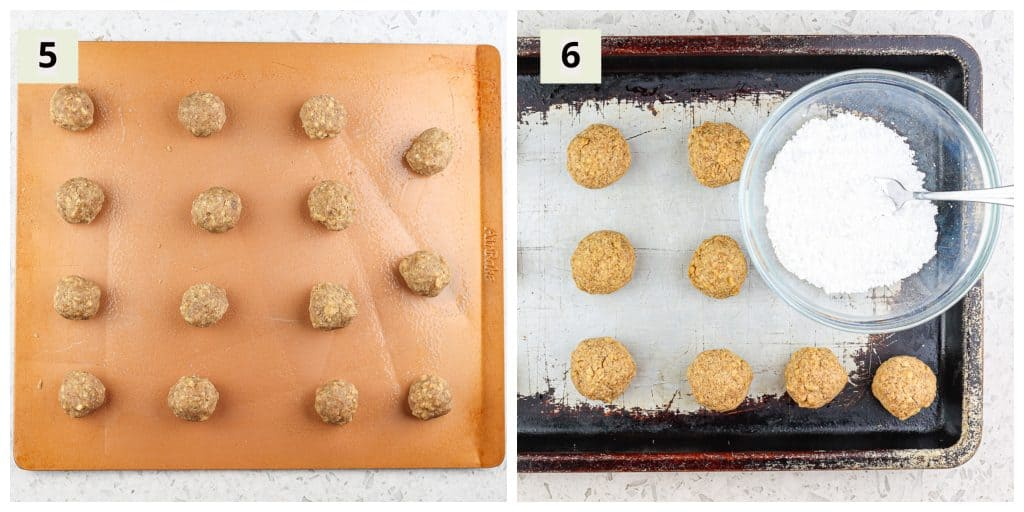Healthy Vegan Snowball Cookies process shots to make.