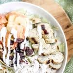 Healthy Waldorf Salad with Chicken - a quick fix, healthy salad recipe to bring into your regular routine! Easy to make in under 10 minutes and filled with protein and healthy fats! #healthysalad #freshsalads #weightlossrecipes