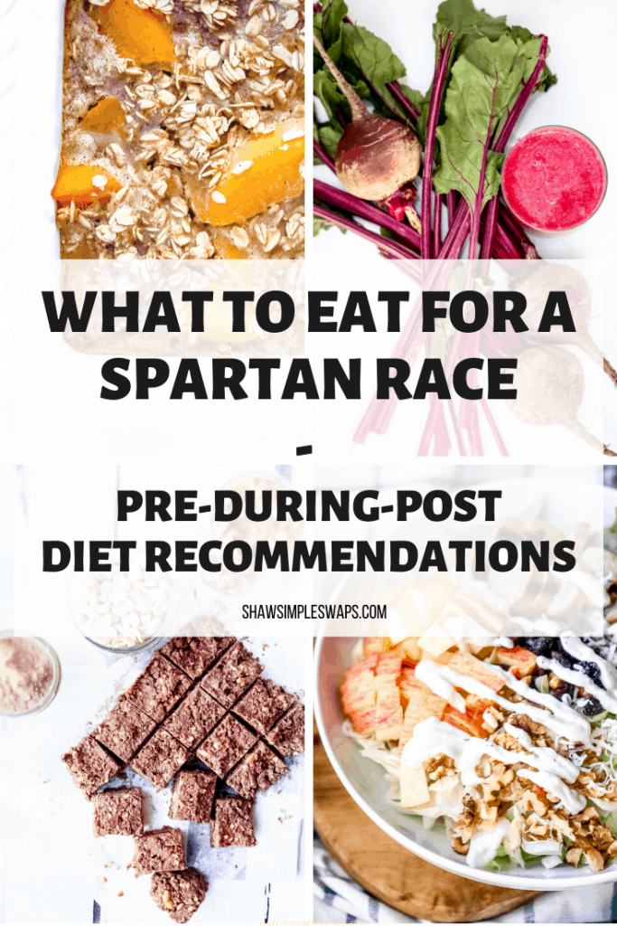 Spartan Diet Tips - What to eat pre, during and post workouts to help boost your energy, lose body fat and gain muscle during your training. #spartanrace #spartanracetraining