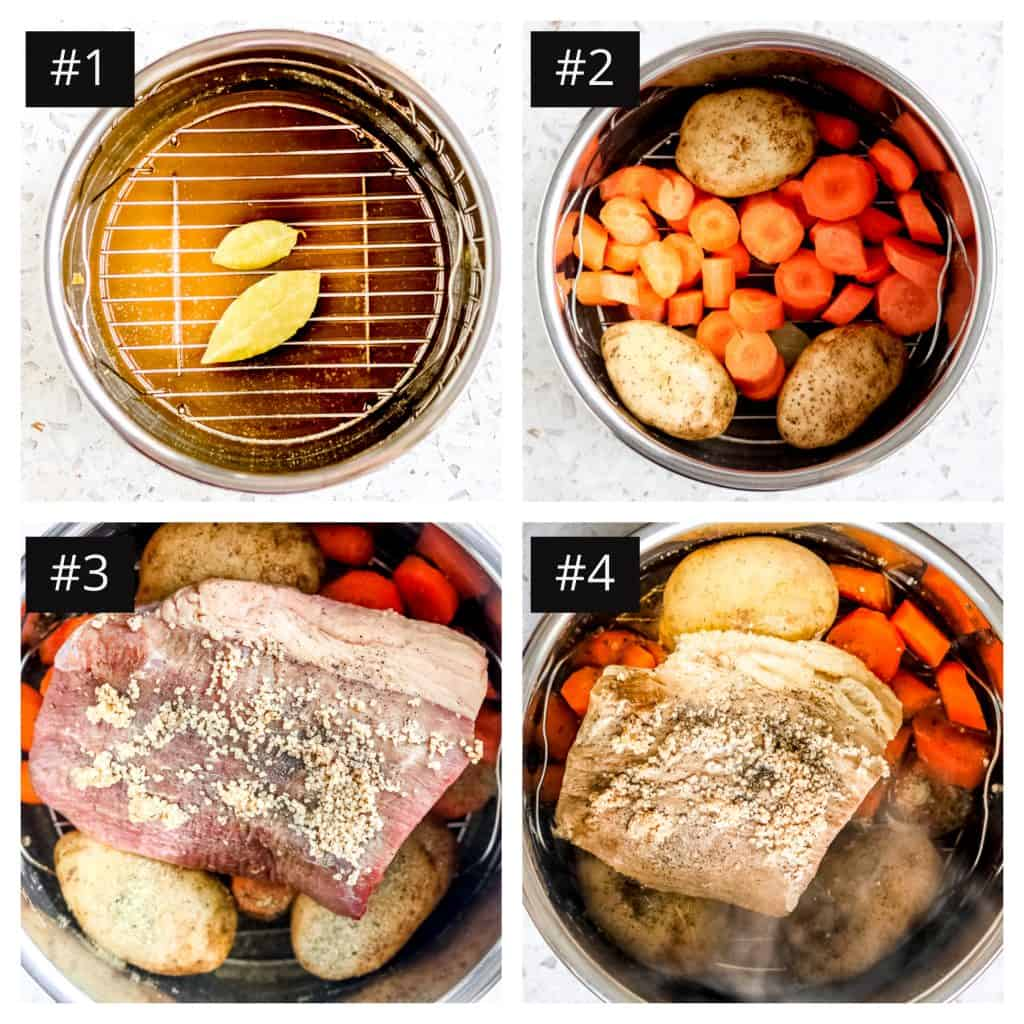 Picture of the steps to make Instant Pot Round Roast.