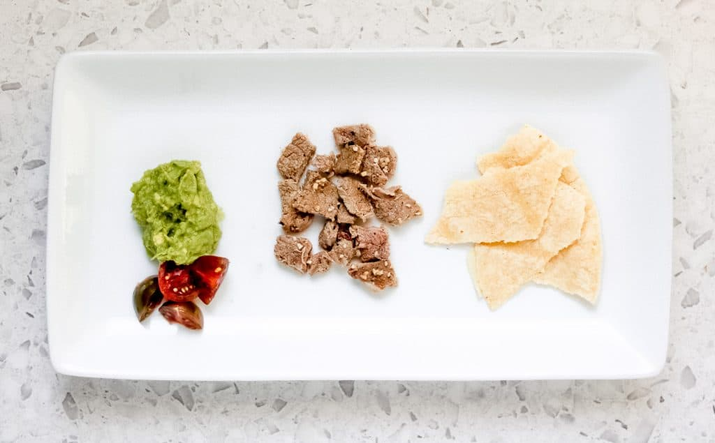 Image of deconstructed taco plate for a toddler.