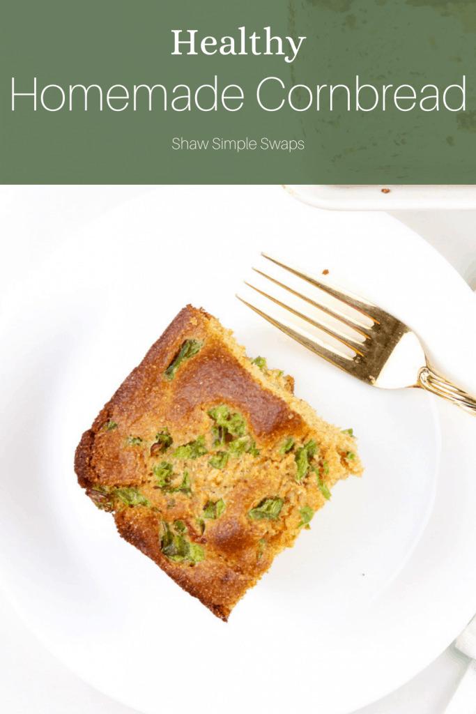 Image of pinable cornbread recipe