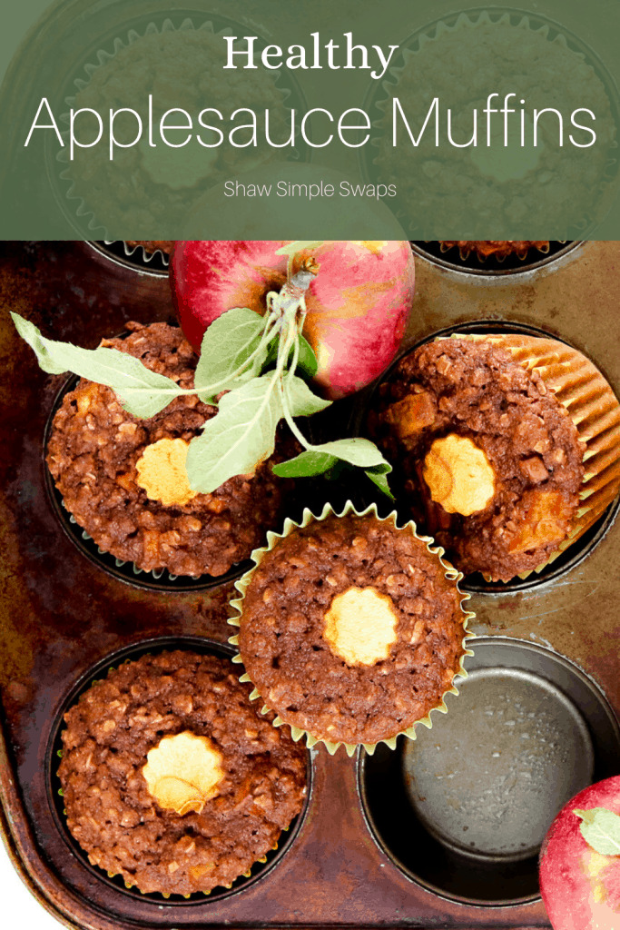 Pinable image of apple muffins.