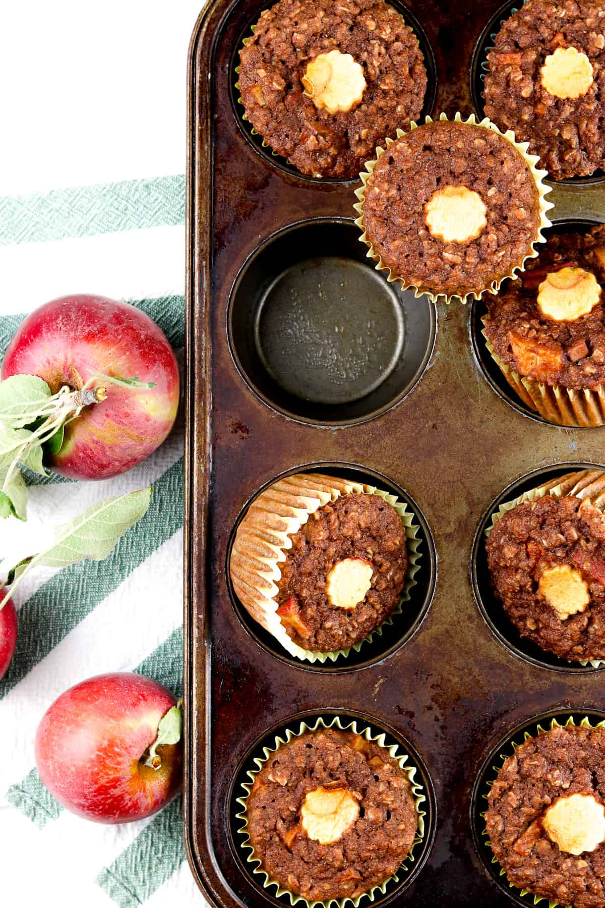 Image of apple muffins.