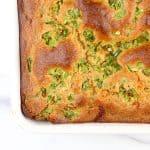 Image of hatch chile healthy cornbread recipe.