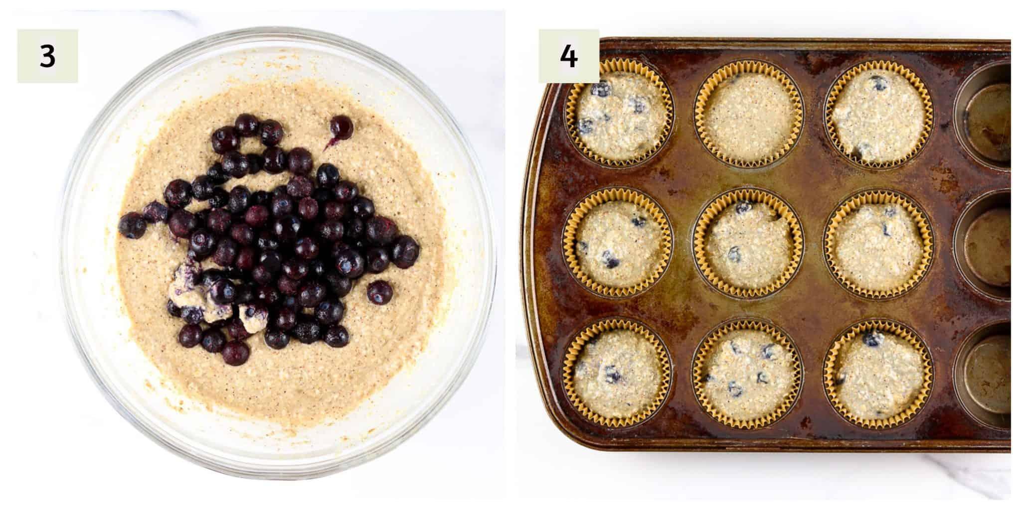 Process shots to make muffins.