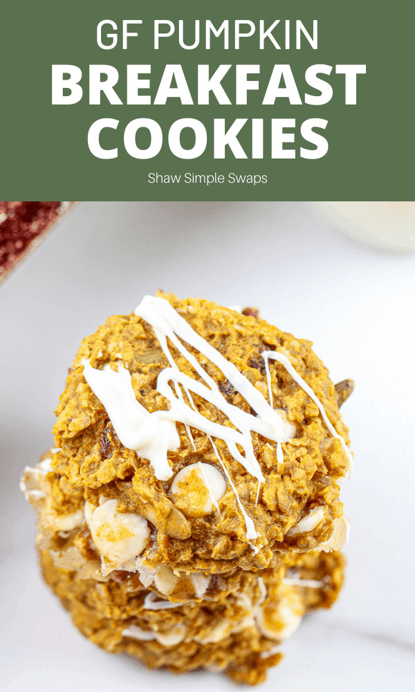 Pinable image of pumpkin breakfast cookies.
