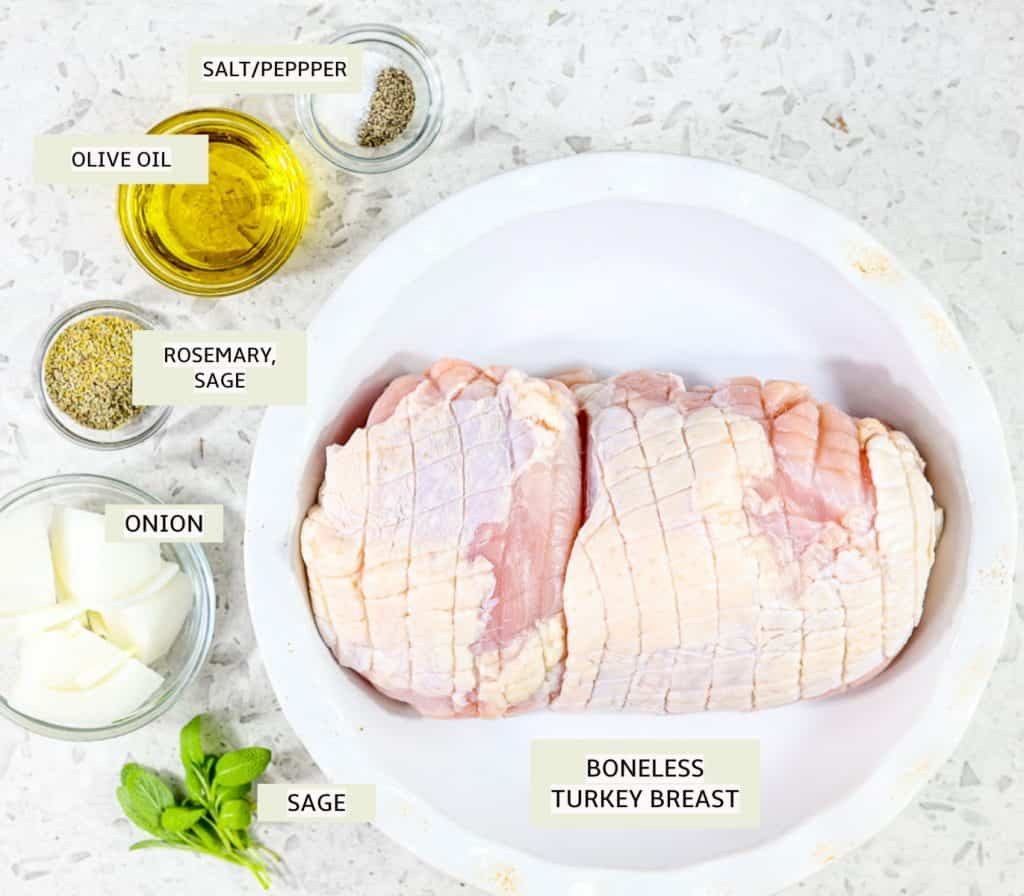 Ingredients to make small turkey.