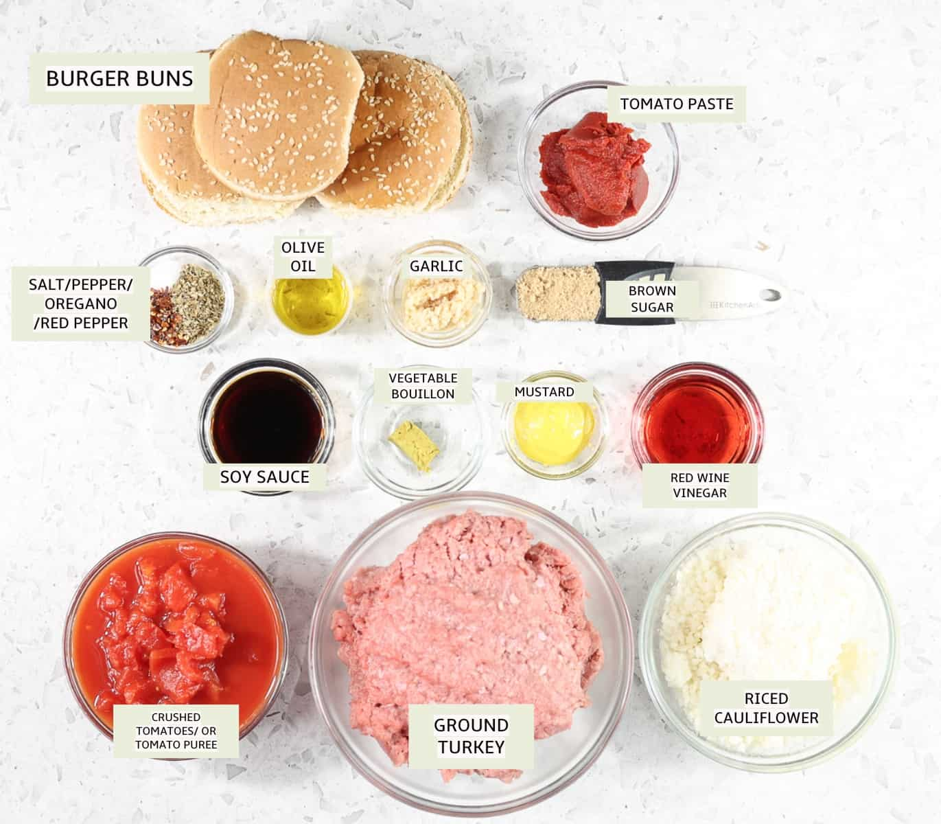 Ingredients to make Healthy Instant Pot Sloppy Joes.