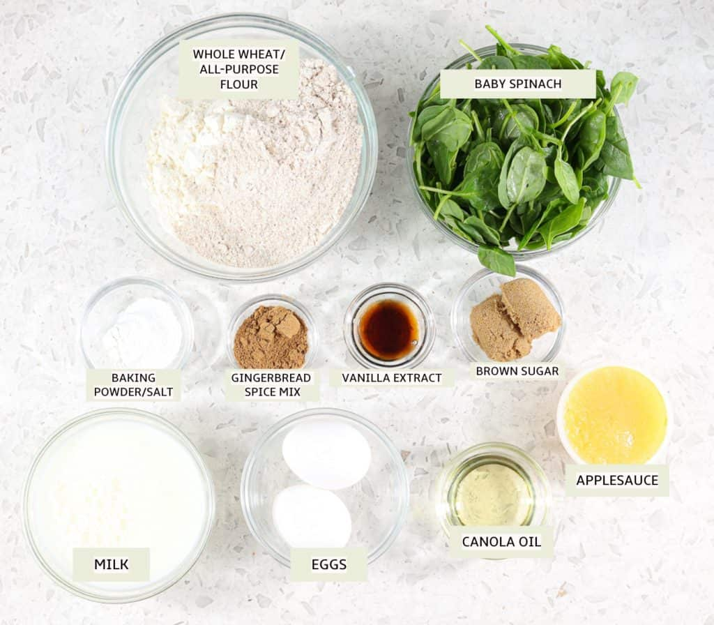 Ingredients to make waffles.