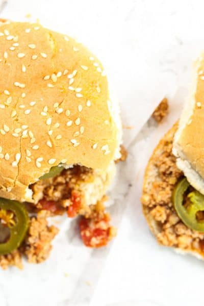 Plated sloppy joes recipe.