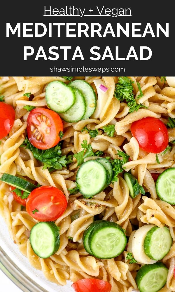 Pinterest image for pasta salad.