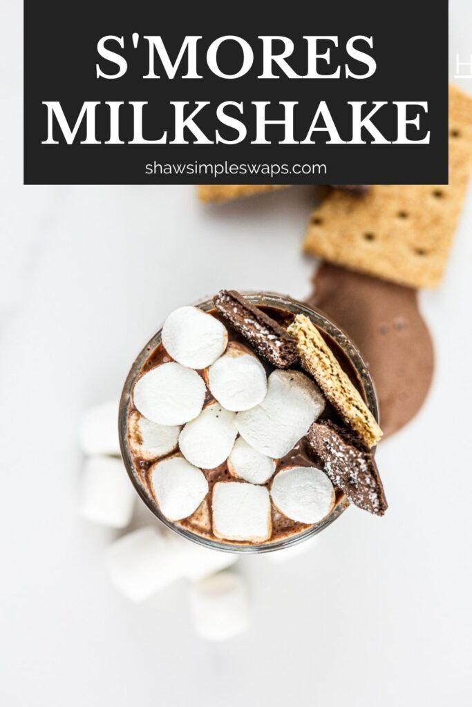 Pinterest image of milkshake.