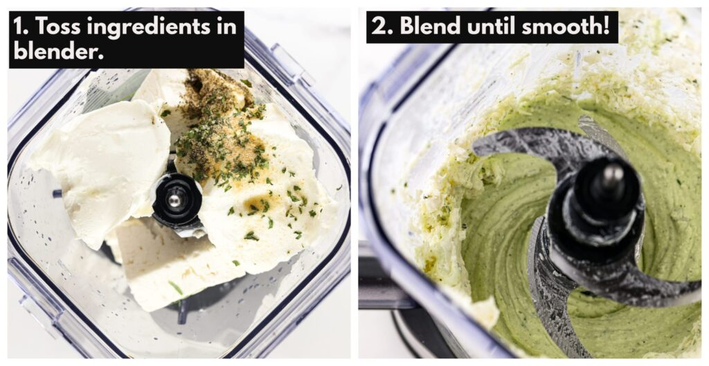 Directions for how to make the dip recipe.